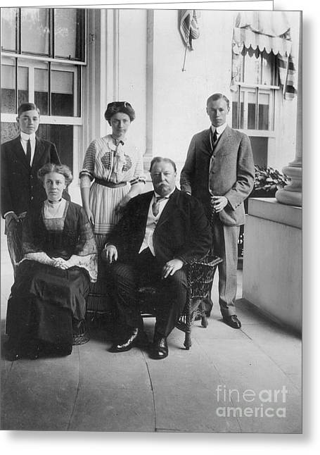 Williams Sisters Greeting Cards - William Howard Taft Family Greeting Card by Granger