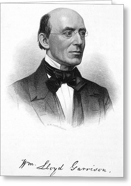 Abolition Greeting Cards - William Lloyd Garrison Greeting Card by Granger