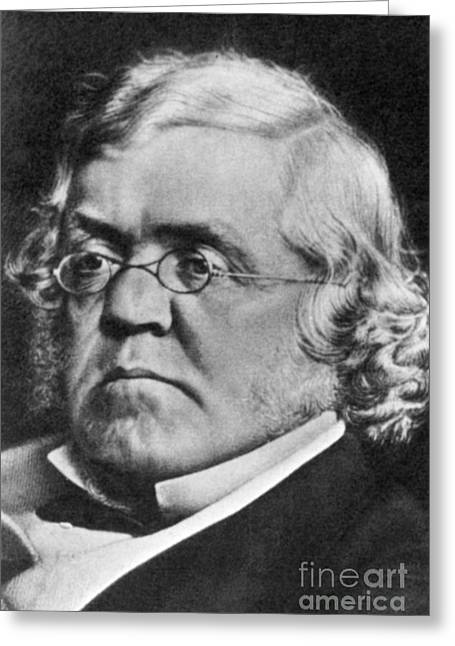 Vanity Fair Greeting Cards - William Makepeace Thackeray Greeting Card by Science Source