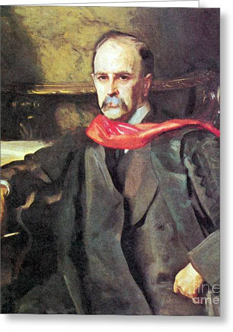 Historical Physician Greeting Cards - William Osler, Canadian Physician Greeting Card by Science Source