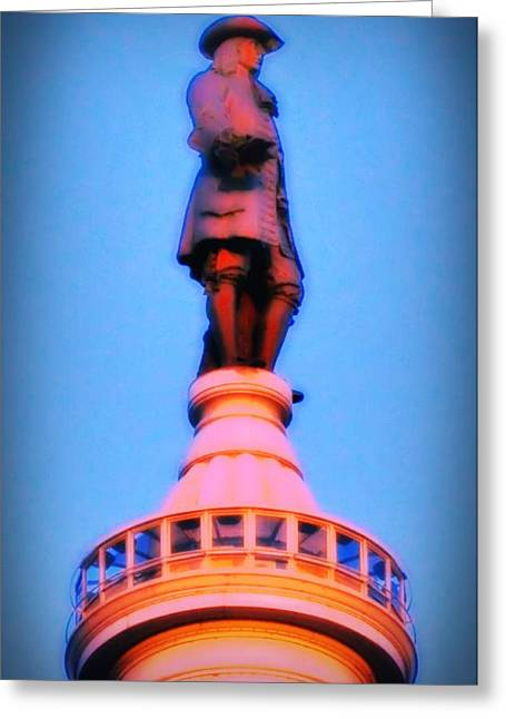 Quaker Greeting Cards - William Penn - City Hall in Philadelphia Greeting Card by Bill Cannon