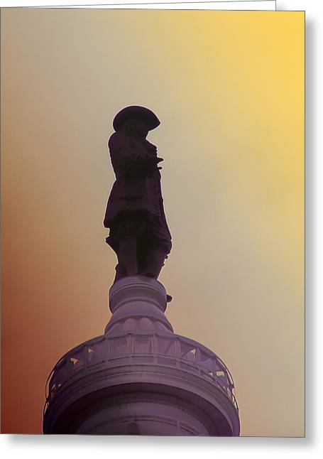 Quaker Greeting Cards - William Penn Greeting Card by Bill Cannon