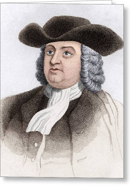 William Penn, English Coloniser Greeting Card by Sheila Terry