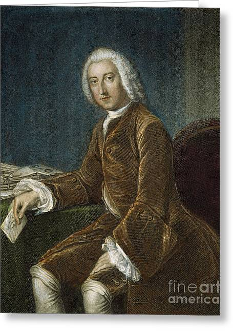 Chatham Greeting Cards - William Pitt (1708-1778) Greeting Card by Granger