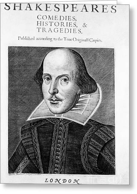 Romance Renaissance Greeting Cards - William Shakespeare, English Poet Greeting Card by Omikron