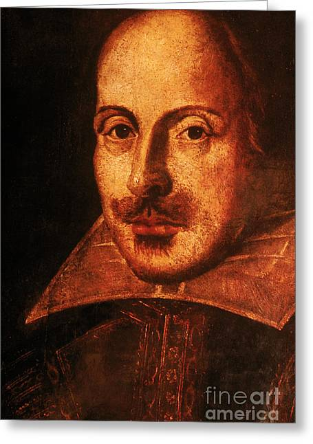 1564-1616 Greeting Cards - William Shakespeare, English Poet Greeting Card by Photo Researchers, Inc.