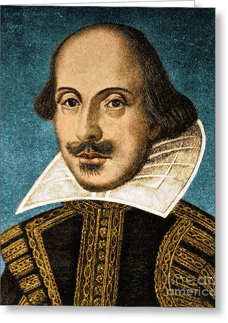 Dramatist Greeting Cards - William Shakespeare, English Poet Greeting Card by Science Source
