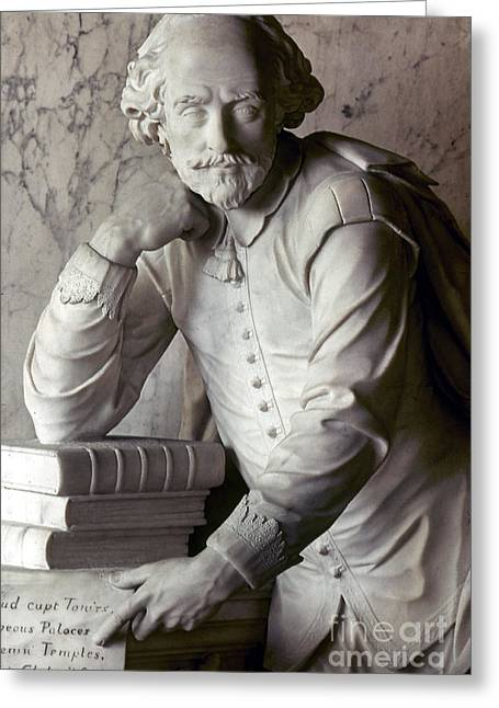 Statue Portrait Greeting Cards - William Shakespeare Greeting Card by Granger