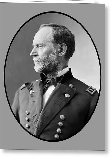 Williams Digital Art Greeting Cards - William Tecumseh Sherman Greeting Card by War Is Hell Store