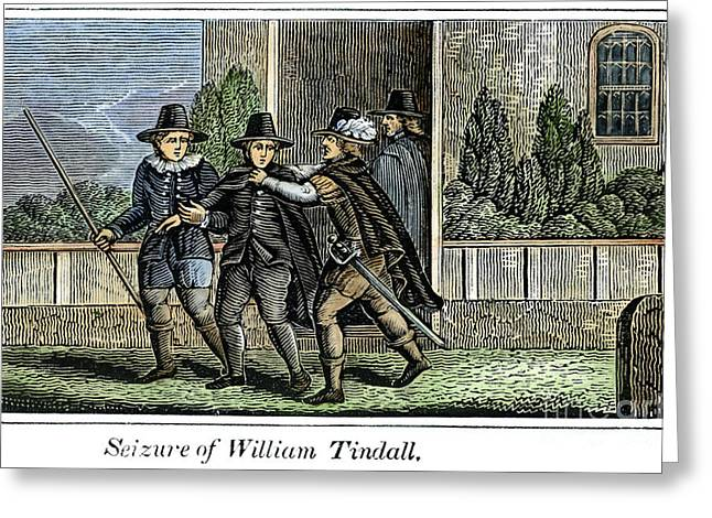 Discrimination Greeting Cards - William Tyndale Greeting Card by Granger