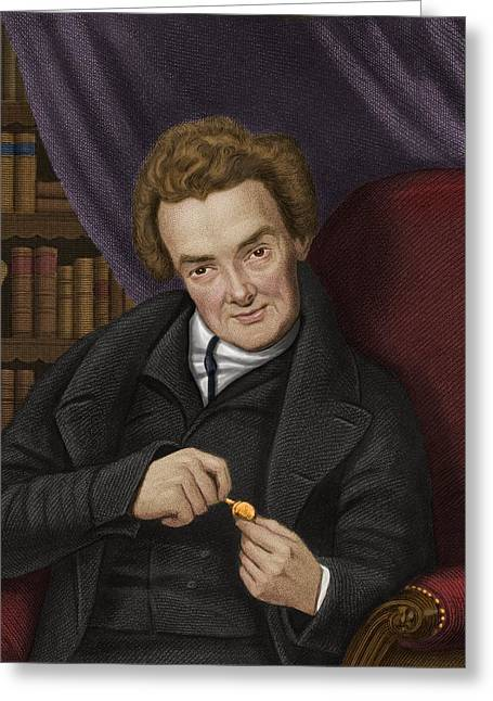 Abolitionist Greeting Cards - William Wilberforce, British Abolitionist Greeting Card by Maria Platt-evans