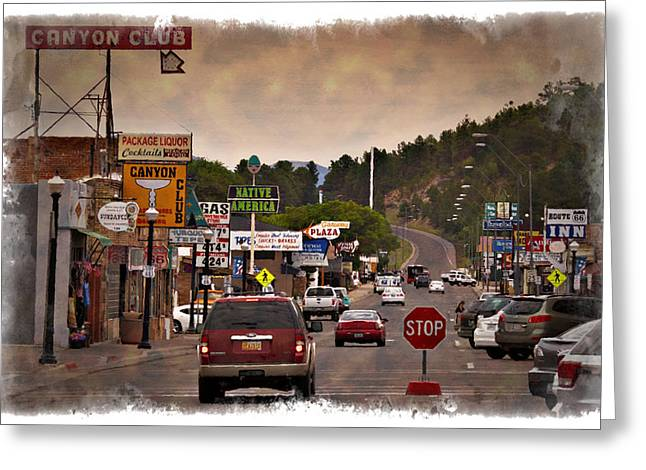 William Street Greeting Cards - Williams Arizona - IMPRESSIONS Greeting Card by Ricky Barnard