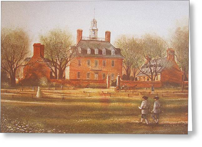 Governors Greeting Cards - Williamsburg Governors Palace Greeting Card by Charles Roy Smith