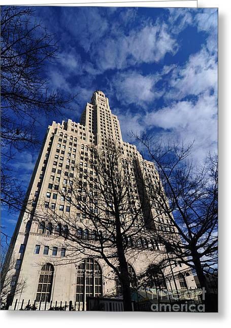 Bklyn Greeting Cards - Williamsburgh Bank Building Greeting Card by Mark Gilman
