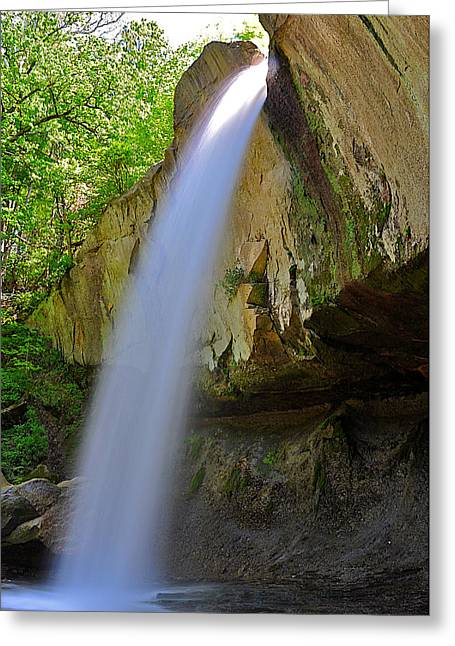 Williamsport Greeting Cards - Williamsport Falls Warren County Indiana Greeting Card by Marsha Williamson Mohr