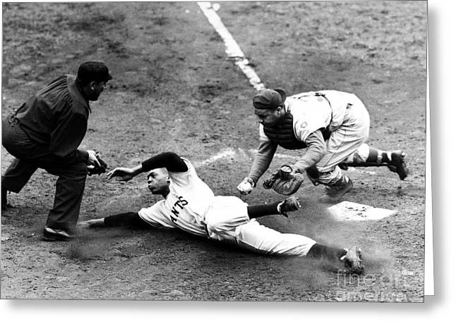 Outdoor Photographs Photographs Greeting Cards - Willie Mays (1931- ) Greeting Card by Granger