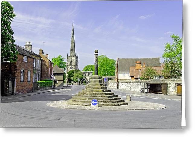 Church Greeting Cards - Willington Road - Repton Greeting Card by Rod Johnson