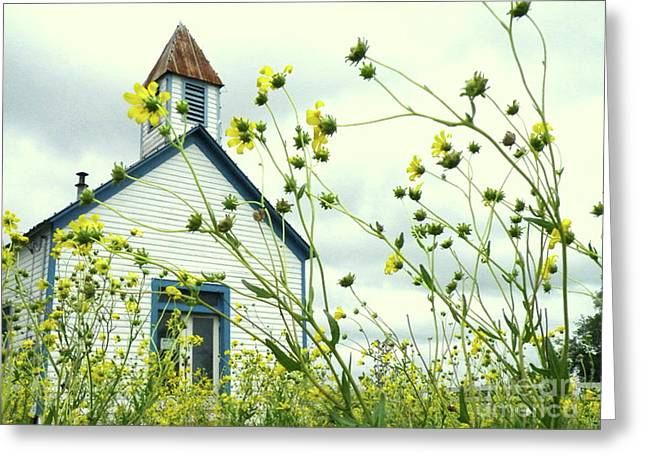 Country Framed Prints Greeting Cards - Willkommen Hier Greeting Card by Joe Jake Pratt