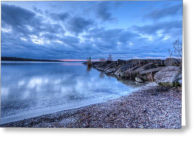 York Beach Greeting Cards - Willow Bay Greeting Card by Everet Regal