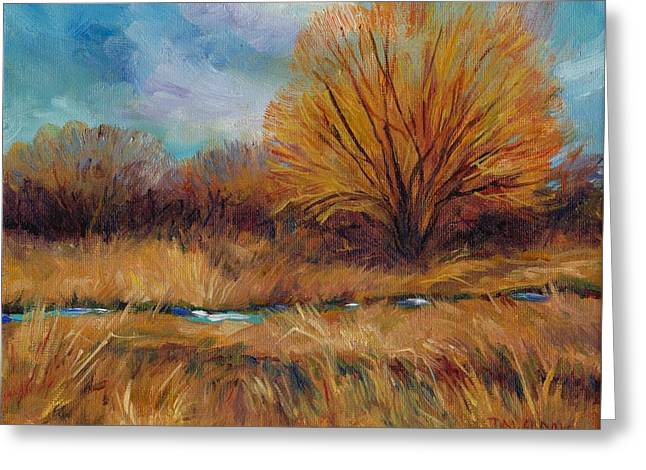 Meadow Willows Greeting Cards - Willows and Wetlands Greeting Card by Peggy Wilson