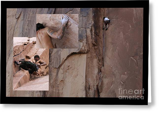 Climbing In Greeting Cards - Willpower No Caption Greeting Card by Bob Christopher