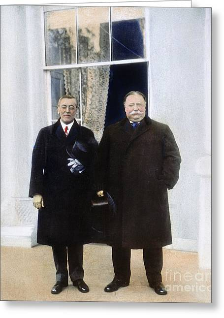 Inauguration Greeting Cards - Wilson & Taft: White House Greeting Card by Granger