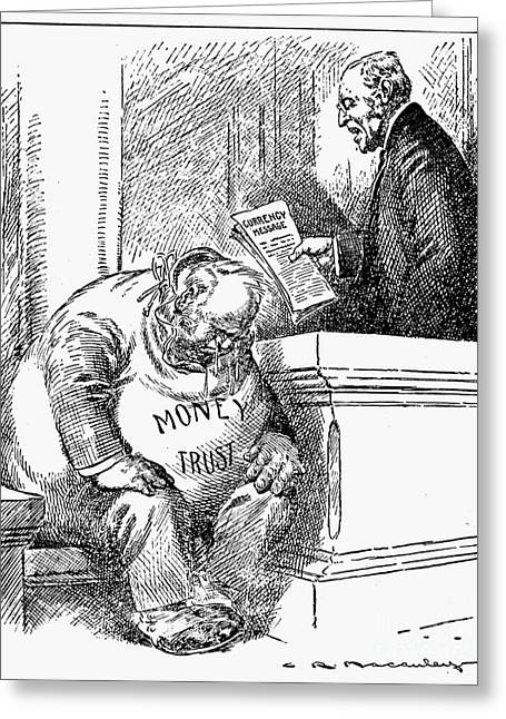 Monopoly Greeting Cards - Wilson Cartoon, 1913 Greeting Card by Granger