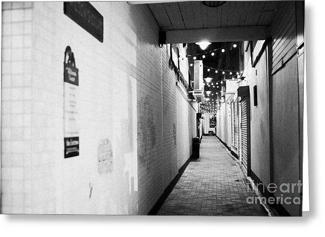 Centre Court Greeting Cards - Wilsons Court One Of The Entries Oldest Streets In Belfast Northern Ireland Uk United Kingdom Greeting Card by Joe Fox