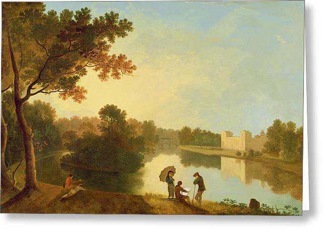 Park Scene Greeting Cards - Wilton House from the South-east Greeting Card by Richard Wilson