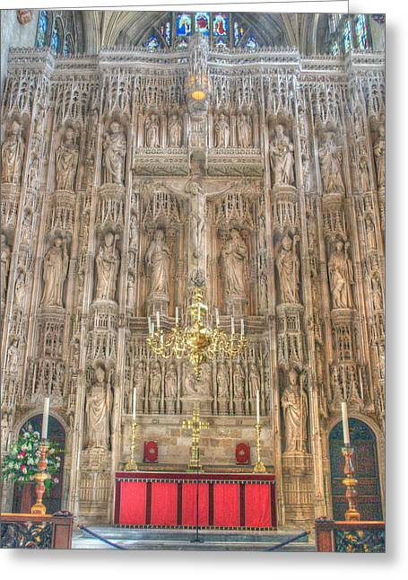 Altar Picture Greeting Cards - Winchester Cathedral High Altar Greeting Card by Chris Day