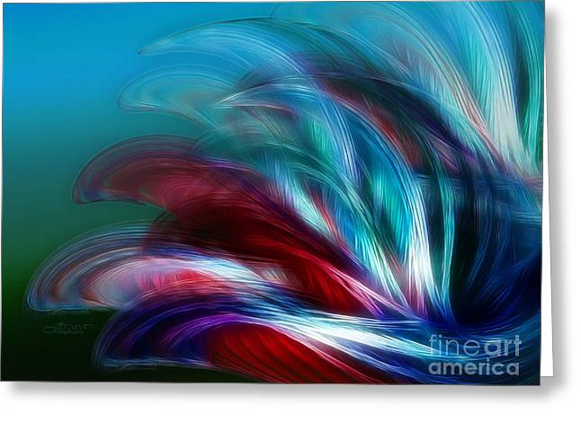 Duplication Greeting Cards - Wind and Waves Greeting Card by Jutta Maria Pusl