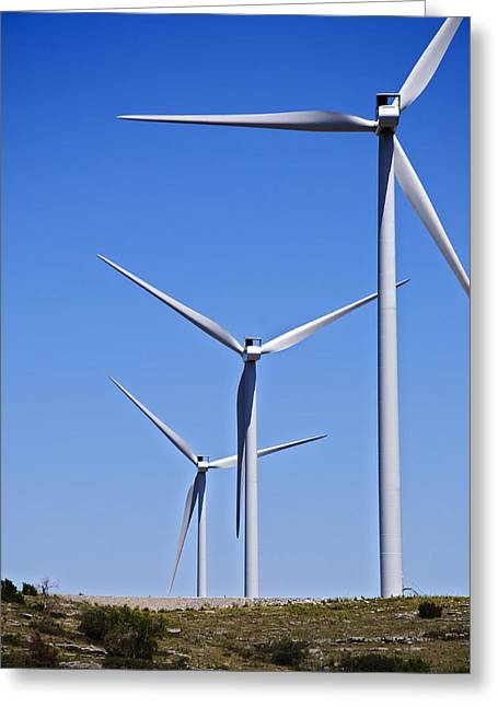 Ecologic Greeting Cards - Wind Farm I Greeting Card by Ricky Barnard