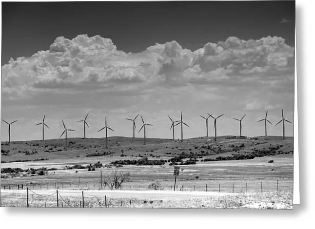 Option Greeting Cards - Wind Farm II Greeting Card by Ricky Barnard
