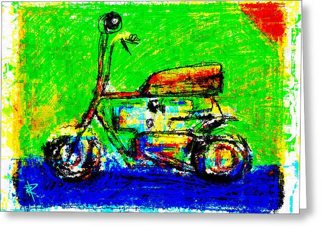 Seated Mixed Media Greeting Cards - Wind in Your Hair Too Greeting Card by Russell Pierce