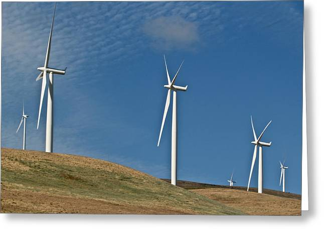 Rotate Greeting Cards - Wind Power 2 Greeting Card by Todd Kreuter