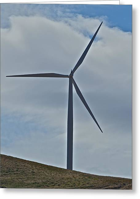 Rotate Greeting Cards - Wind Power 4 Greeting Card by Todd Kreuter