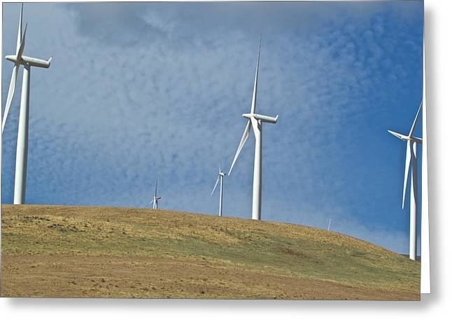 Rotate Greeting Cards - Wind Power 5 Greeting Card by Todd Kreuter