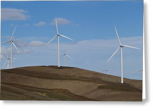 Rotate Greeting Cards - Wind Power 7 Greeting Card by Todd Kreuter