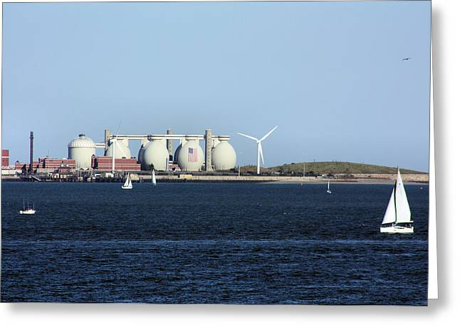 Power Plants Greeting Cards - Wind Power Greeting Card by Kristin Elmquist