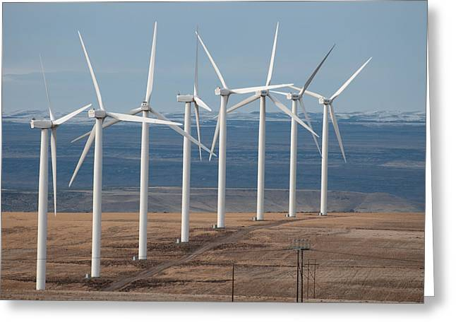Generators Greeting Cards - Wind Power Greeting Card by Elijah Weber