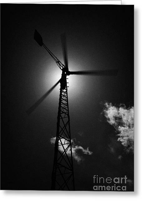 Wind Power Windmill Energy Greeting Card by Joe Fox
