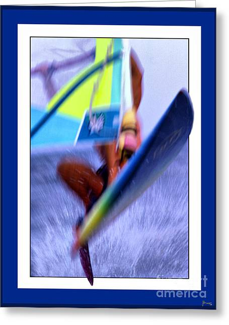 Wind Surfing Greeting Cards - Wind Surfing Greeting Card by Jeff Breiman