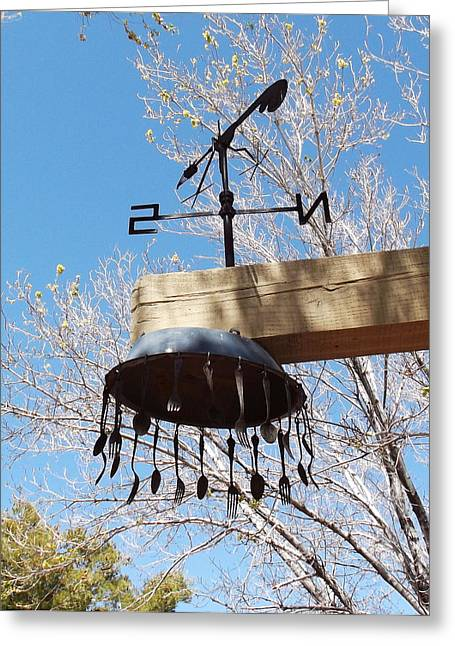 West Fork Greeting Cards - Wind Tines Greeting Card by Cindy Nunn