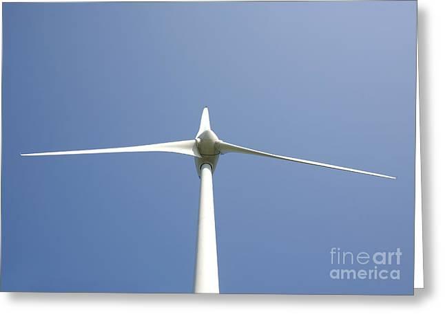 Wind Turbine Greeting Card by Jaak Nilson