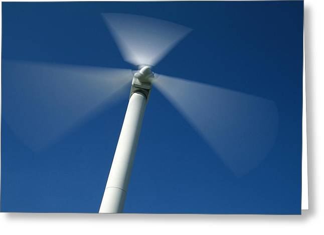Energy Efficiency Greeting Cards - Wind Turbine Greeting Card by Jeremy Walker