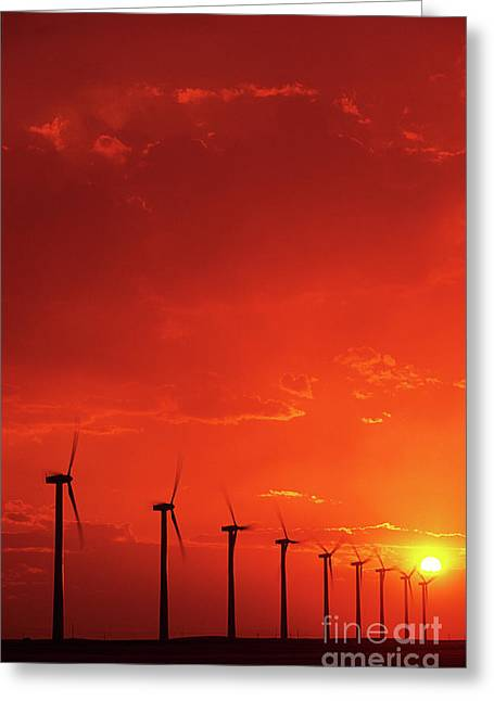 Pinchers Greeting Cards - Wind Turbines Greeting Card by Bob Christopher