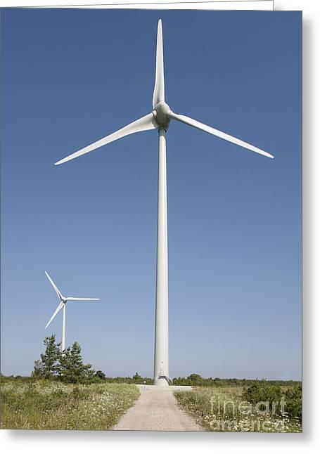 Wind Turbines Greeting Card by Jaak Nilson