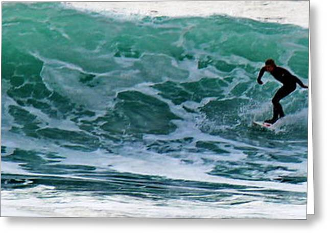 Surfin Greeting Cards - Windansea Close Out Greeting Card by Russ Harris