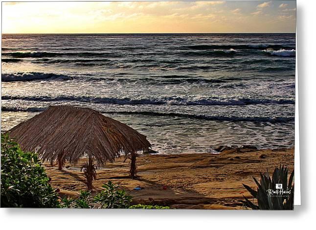 Windansea Surf Shack Greeting Card by Russ Harris