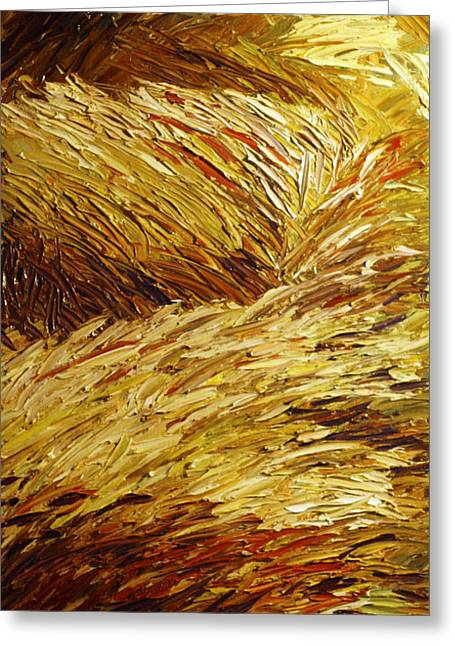Windblown Grass Greeting Card by Raette Meredith